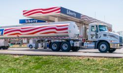 Tanker truck outside of Liberty Gas location